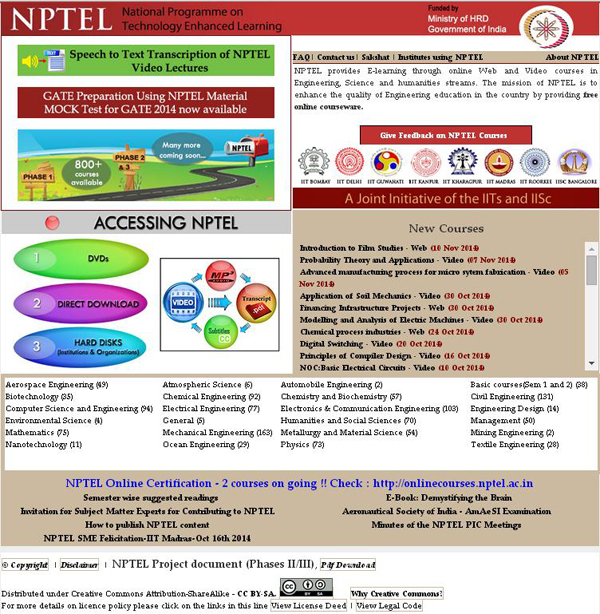 E contents government of india ministry of human resource development the mission of nptel is to enhance the quality of engineering education in the country by providing free ccuart Choice Image