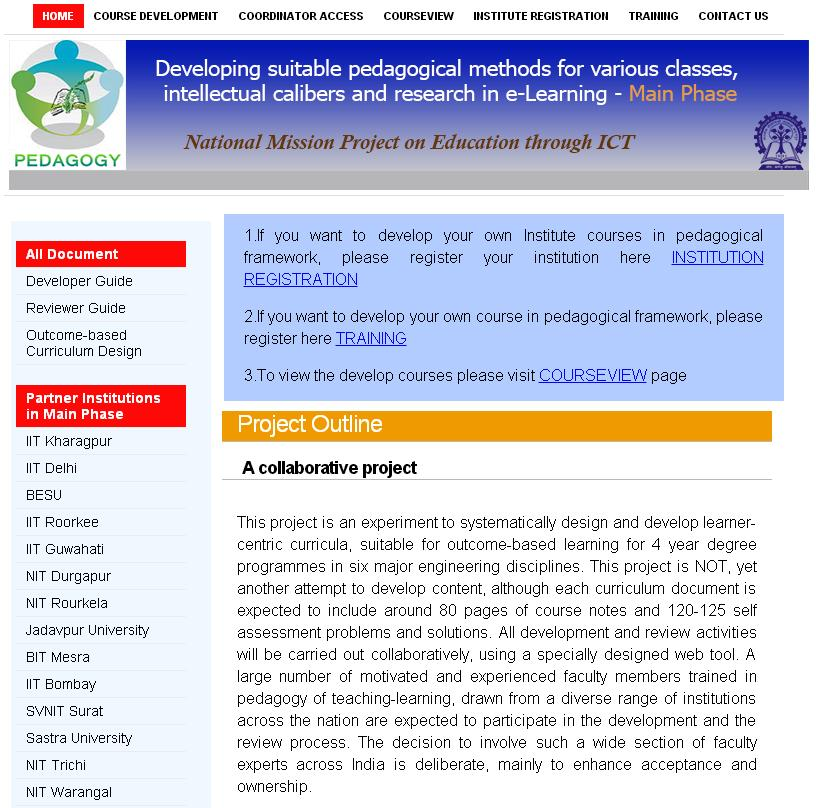 E-Contents | Government of India, Ministry of Human Resource