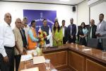 Hon'ble HRD Minister, Met with a delegation from Karnataka led by Shri T.S Nagabharana, Chairman.