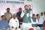 HRM addressing the gathering at Musheerabad Government Girls High School, in Hyderabad