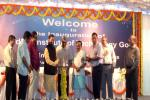 HRM lighting the lamp at the inauguration of the IIT-Goa, at Farmagudi, in Ponda, Goa