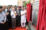 Shri Upendra Kushwaha unveiling the plaque to inaugurate the newly constructed office complex of AICTE