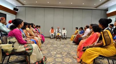 The Hon'ble Prime Minister Shri Narendra Modi met the awardees of National Award to Teachers 2019